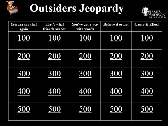The Outsiders Game